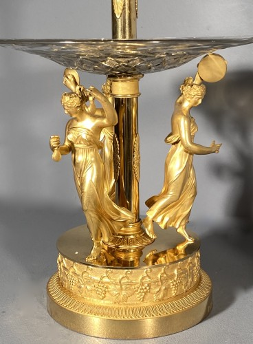 Antiquités - Pair of bronze and crystal cups signed Thomire circa 1810