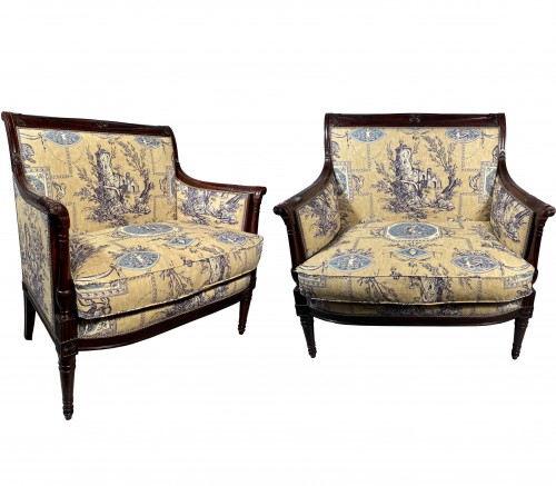 Pair of marquises in mahogany attributed to H. Jacob around 1795