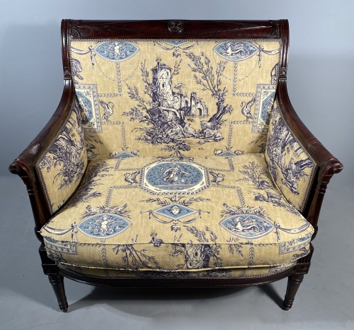Seating  - Pair of marquises in mahogany attributed to H. Jacob around 1795