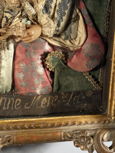 St Anne and the Virgin, dressed wax, workshop of the Guillot Brothers, Nanc -