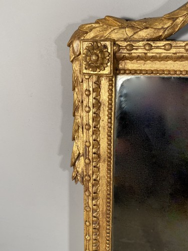 Gilded wood mirror with the arms of the city of Marseille circa 1790 -