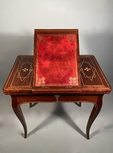 Furniture  - Exotic wood music table, La Rochelle Louis XV period