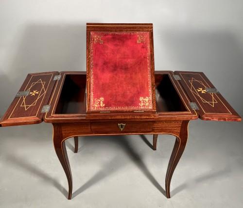 Exotic wood music table, La Rochelle Louis XV period -