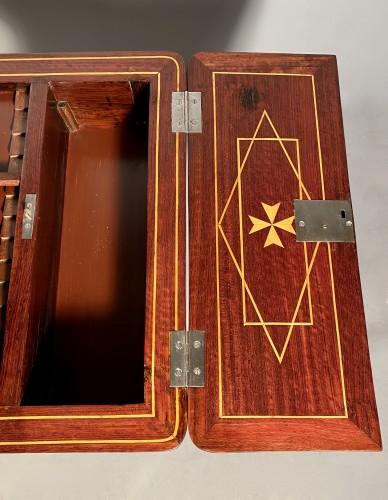 Antiquités - Exotic wood music table, La Rochelle Louis XV period