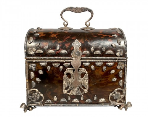 Tortoise shell and silver box 18th century