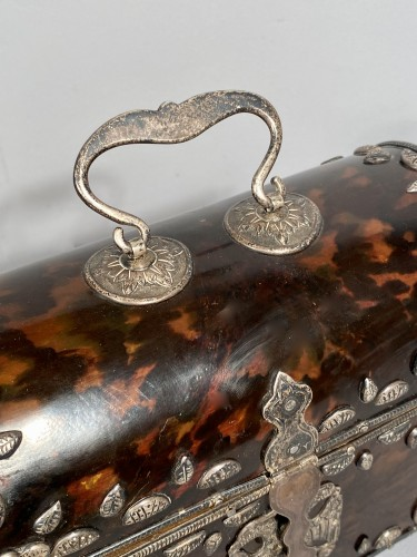 Tortoise shell and silver box 18th century - Louis XV
