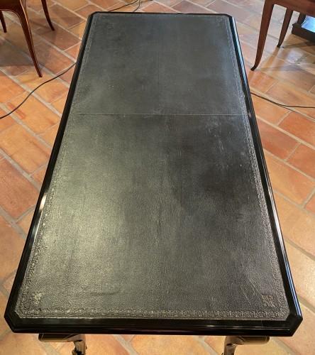 Antiquités - Flat desk in Boulle marquetry, Paris Régence period