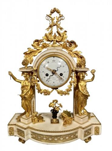 Allegory of the theater clock, Paris, Louis XVI period