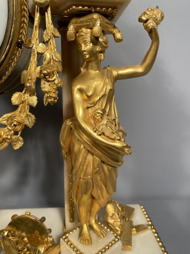Allegory of the theater clock, Paris, Louis XVI period - Horology Style Louis XVI