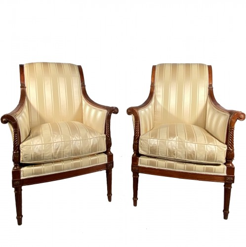 French fine 18th armchairs, attributed to G. Jacob around