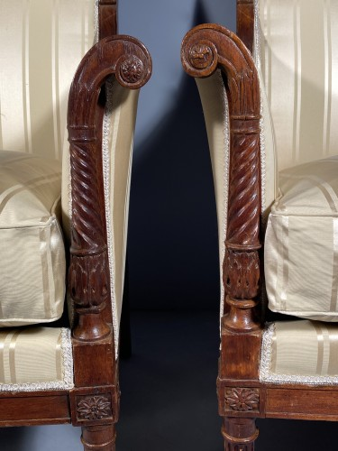 Seating  - French fine 18th armchairs, attributed to G. Jacob around