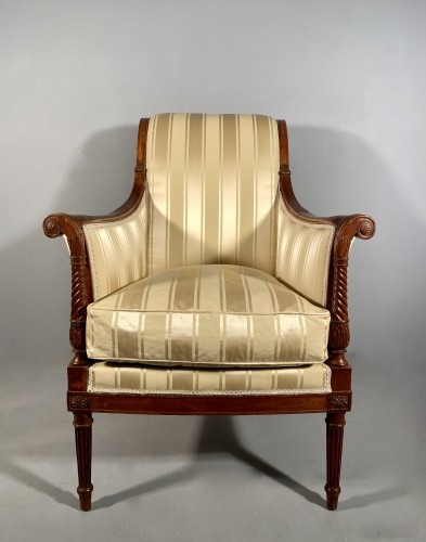 French fine 18th armchairs, attributed to G. Jacob around  -