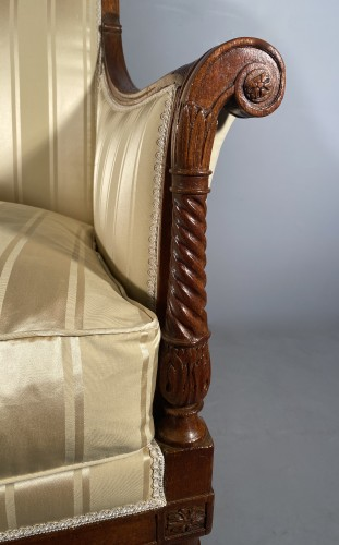 French fine 18th armchairs, attributed to G. Jacob around  - Louis XVI