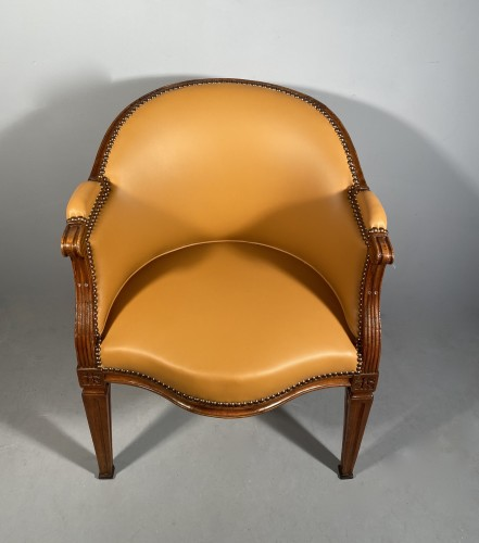 Walnut desk chair, P.Pillot, Nîmes around 1780 -