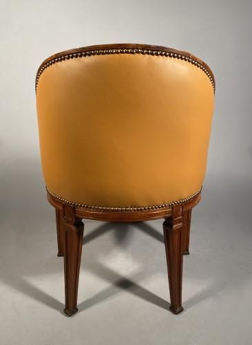 Antiquités - Walnut desk chair, P.Pillot, Nîmes around 1780