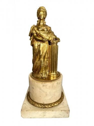 Marie-Antoinette queen of France, gilt bronze 19th century