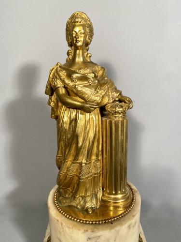 Marie-Antoinette queen of France, gilt bronze 19th century -