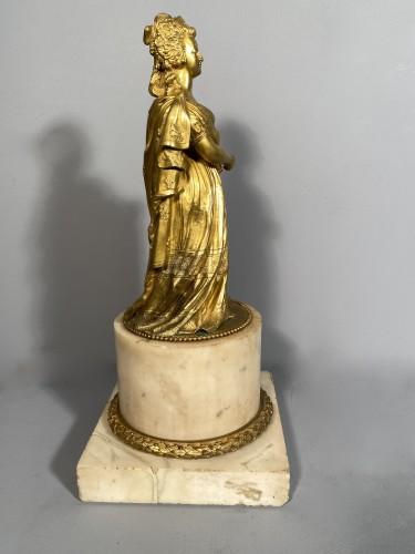 Restauration - Charles X - Marie-Antoinette queen of France, gilt bronze 19th century