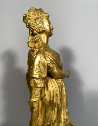 Antiquités - Marie-Antoinette queen of France, gilt bronze 19th century