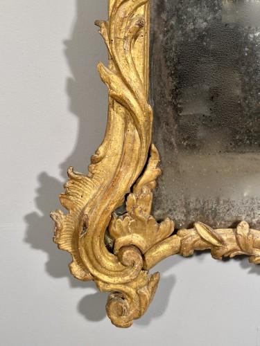 Mirrors, Trumeau  - Italian fine 18th mirror in gilded wood, Genoa circa 1750
