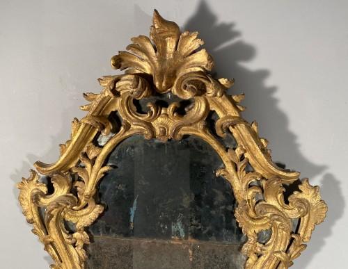 Italian fine 18th mirror in gilded wood, Genoa circa 1750 -