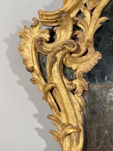 18th century - Italian fine 18th mirror in gilded wood, Genoa circa 1750