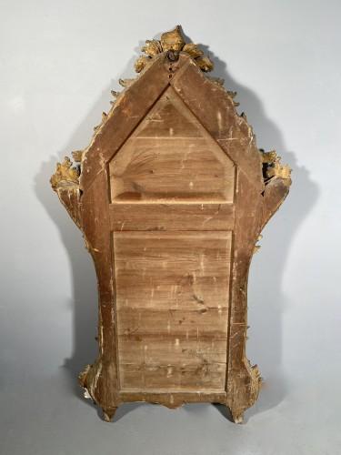 Louis XV - Italian fine 18th mirror in gilded wood, Genoa circa 1750