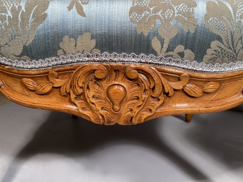 Pair of armchairs with flat backs attributed to J.B Tillard circa 1760 - Seating Style Louis XV