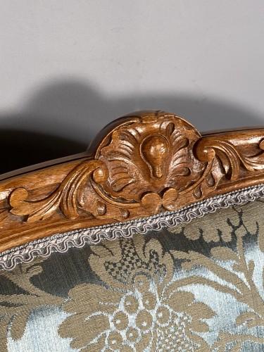 Pair of armchairs with flat backs attributed to J.B Tillard circa 1760 -