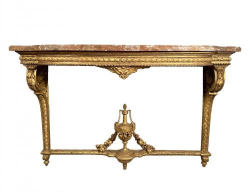 "Gilt oak ""console d'applique"" attributable to G. Jacob around 1780"