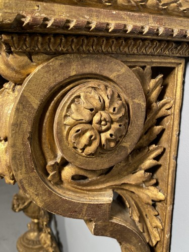 "Gilt oak ""console d'applique"" attributable to G. Jacob around 1780 - Furniture Style Louis XVI"