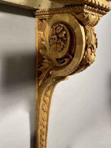 """Antiquités - Gilt oak """"console d'applique"""" attributable to G. Jacob around 1780"""