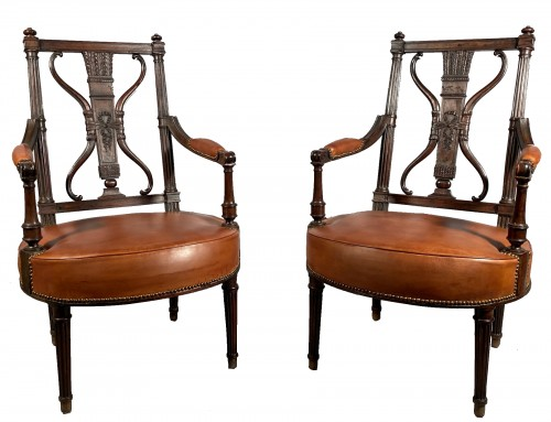 Pair of armchairs with bows and quivers, G.Jacob circa 1793