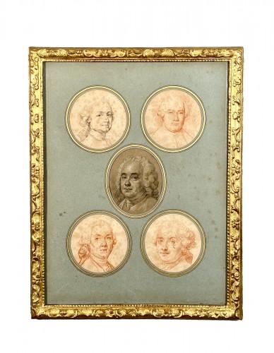 Portraits of the Valois family by Hubert Drouais circa1760