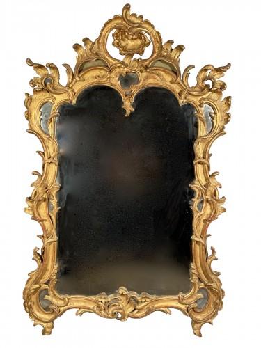 Gilt wood mirror, Provence Louis XV period circa 1750