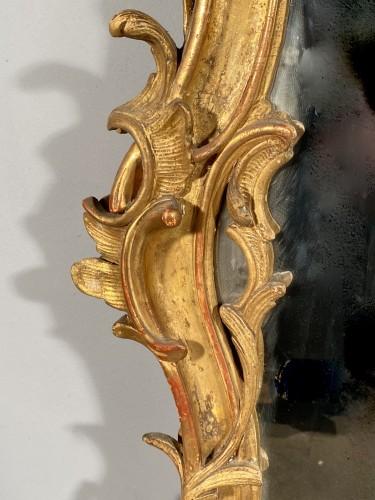 18th century - Gilt wood mirror, Provence Louis XV period circa 1750
