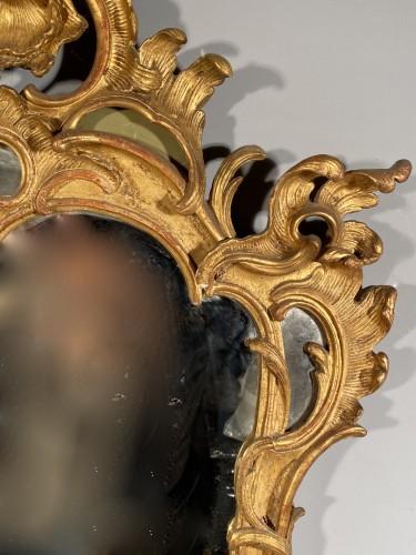 Louis XV - Gilt wood mirror, Provence Louis XV period circa 1750