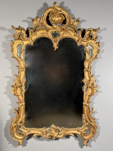 Antiquités - Gilt wood mirror, Provence Louis XV period circa 1750