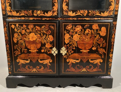 Furniture  - Bookcase in floral marquetry, Paris, Louis XIV period