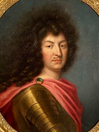 Paintings & Drawings  - Louis XIV in armor, Pierre Mignard and workshop around 1670.