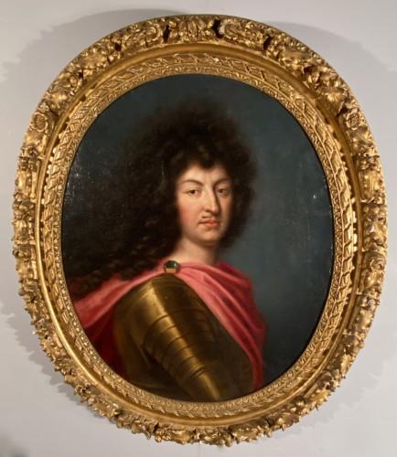 Louis XIV in armor, Pierre Mignard and workshop around 1670. - Louis XIV