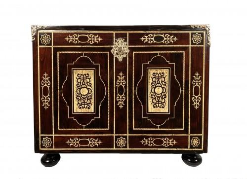 Travel cabinet, ebony and ivory, Milan circa 1620