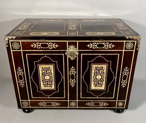 Furniture  - Travel cabinet, ebony and ivory, Milan circa 1620
