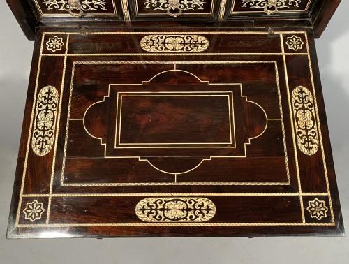 17th century - Travel cabinet, ebony and ivory, Milan circa 1620