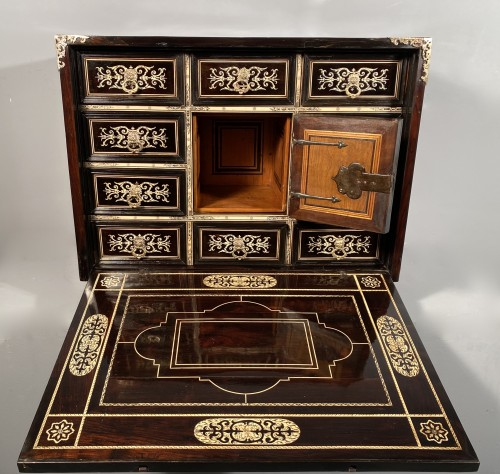 Louis XIII - Travel cabinet, ebony and ivory, Milan circa 1620