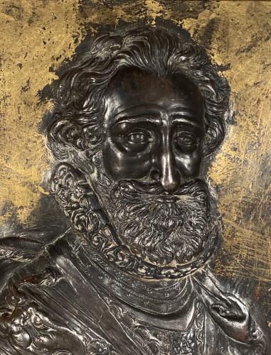 Sculpture  - Pair of damascened iron plates, G. Dupré circa 1600