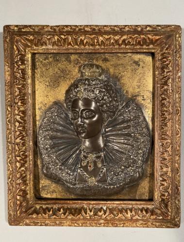 Pair of damascened iron plates, G. Dupré circa 1600 - Renaissance