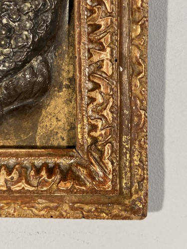 Antiquités - Pair of damascened iron plates, G. Dupré circa 1600