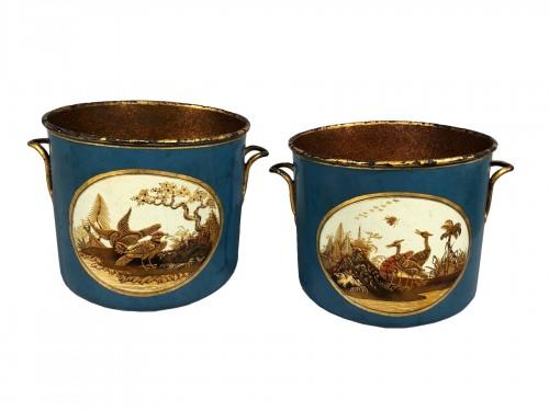 Pair of bottle buckets, Paris circa 1770.