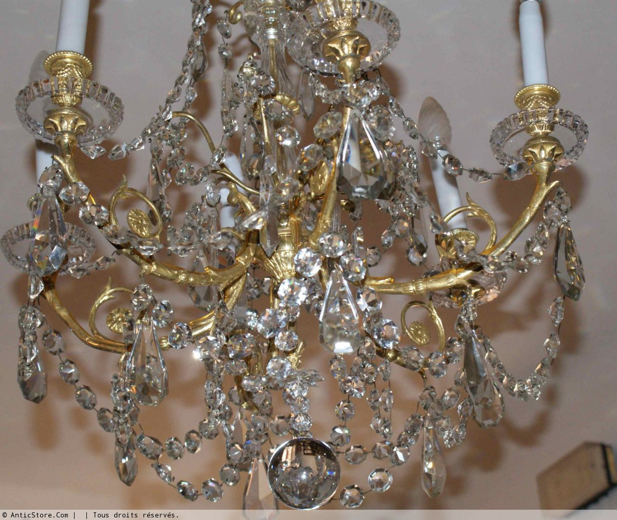 lustre napol on iii antiquit s sur anticstore. Black Bedroom Furniture Sets. Home Design Ideas